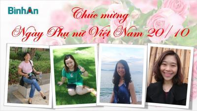Bình An chào mừng ngày Phụ nữ Việt Nam 20/10