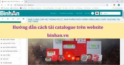 Hướng dẫn cách tải catalogue trên website binhan.vn