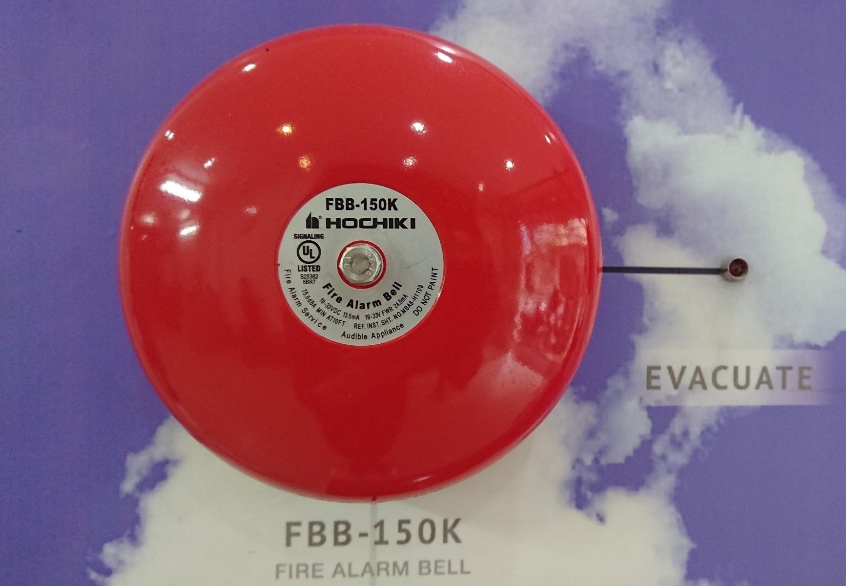 Các loại chuông báo cháy Hochiki có tiêu chuẩn khác nhau (chuông FBB-150K)