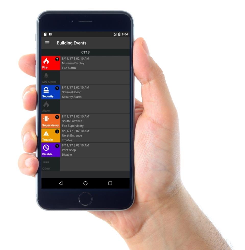 Phần mềm quản lý hệ thống báo cháy trên điện thoại System Manager của Notifier